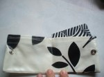 Mini-Pocket Wallet - Black Leaf Oilcloth