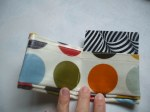 Mini-pocket wallet Medium Spot Olive Oilcloth