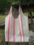 Molly Stripe Sage Bag