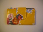 Mexican Oilcloth Purse - 'mum's yellow'