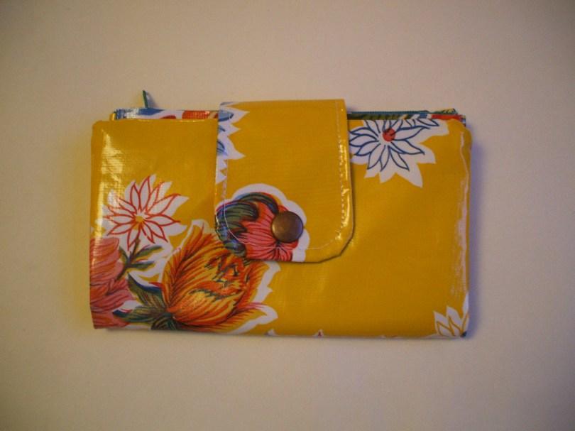 Mexican Oilcloth Purse - 'mum's yellow'