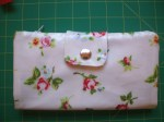 Rose Chintz and Blue Polka Purse