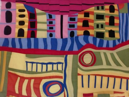 Hundertwasser inspired quilt