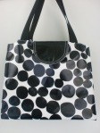 Black and White Oilcloth Bag