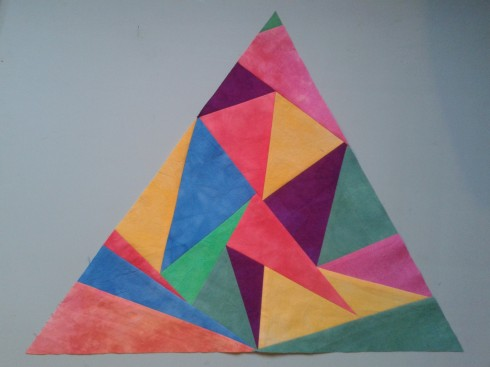 Triangles in a triangle